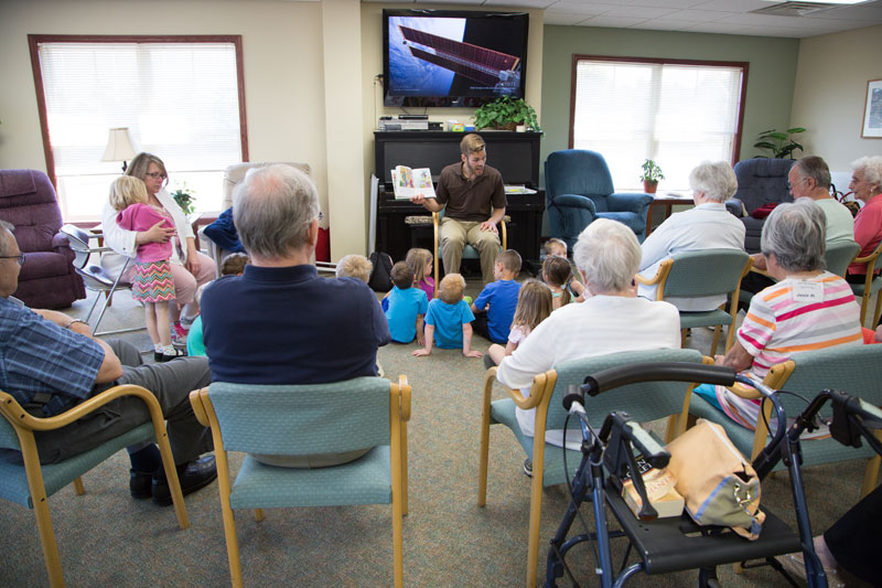 Story-time with Senior Residents